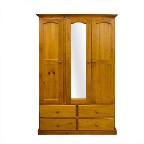 Colonial 3 Door 4 Drawer Wardrobe– All Hanging RAW_Timber Wardrobes