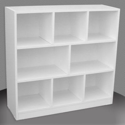 Melamine 3×3 Pigeon Bookcase – 900x900mm_Melamine Bookcases