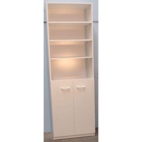 Melamine 6×2 Bookcase with Doors – 1800x600mm_Melamine Bookcases