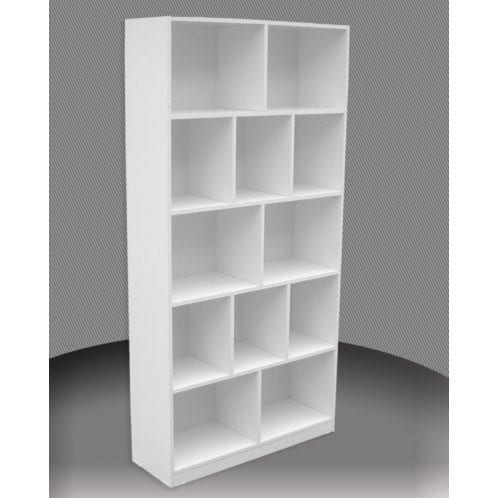 Melamine 6×3 Pigeon Bookcase – 1800x900mm_Melamine Bookcases