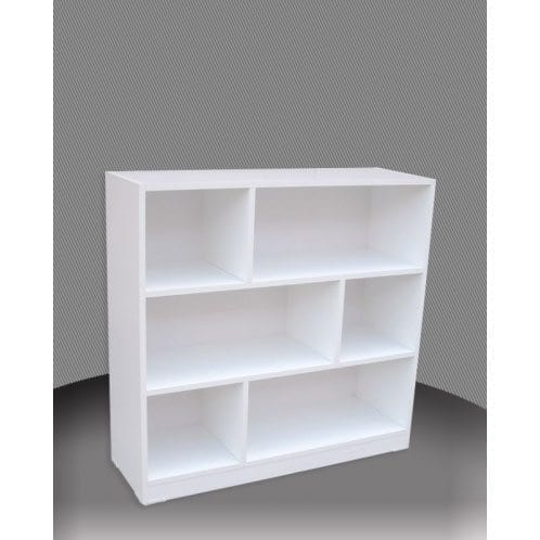 Melamine 3×3 Staggered Bookcase – 900x900mm_Melamine Bookcases