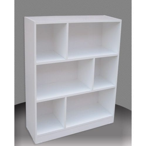 Melamine 4x3 Staggered Bookcase 1200x900mm One Stop Pine
