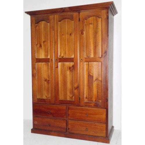 Colonial 3 Door 4 Drawer Wardrobe All Hanging _Timber Wardrobes