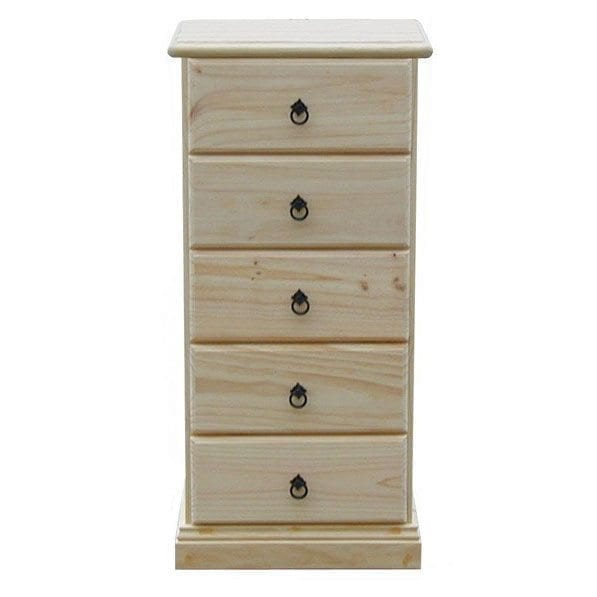 Savannah 4 Drawer chest 450mm RAW_Chests Timber
