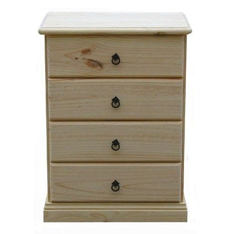 Savannah 4 Drawer Bedside 600mm RAW_Chests Timber
