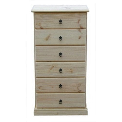 Savannah 6 Drawer Lingerie 600mm RAW_Chests Timber