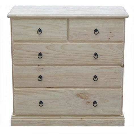Savannah 5 Drawer Chest 900mm RAW_Chests Timber