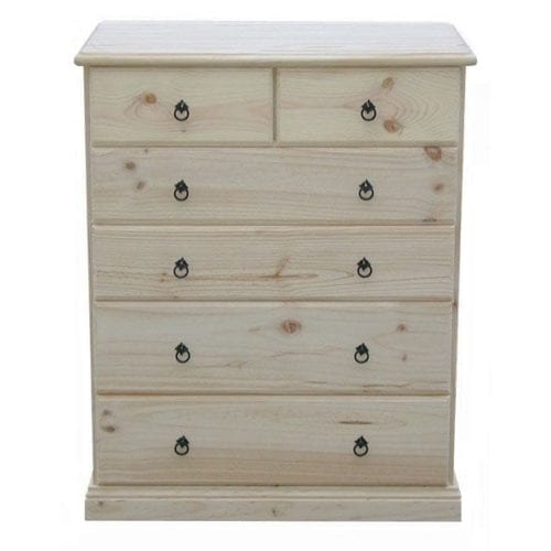 Savannah 6 Drawer Chest 900mm RAW_Chests Timber