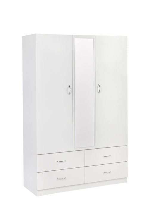 Robe 1200 (2 Door 4 Drawer) – 450mm Deep_Melamine Robes