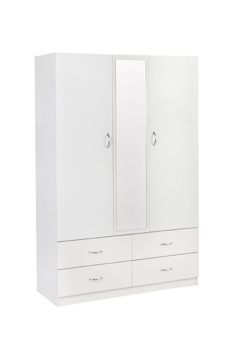Robe 1200 (2 Door 4 Drawer) – 450mm Deep_Melamine Wardrobe