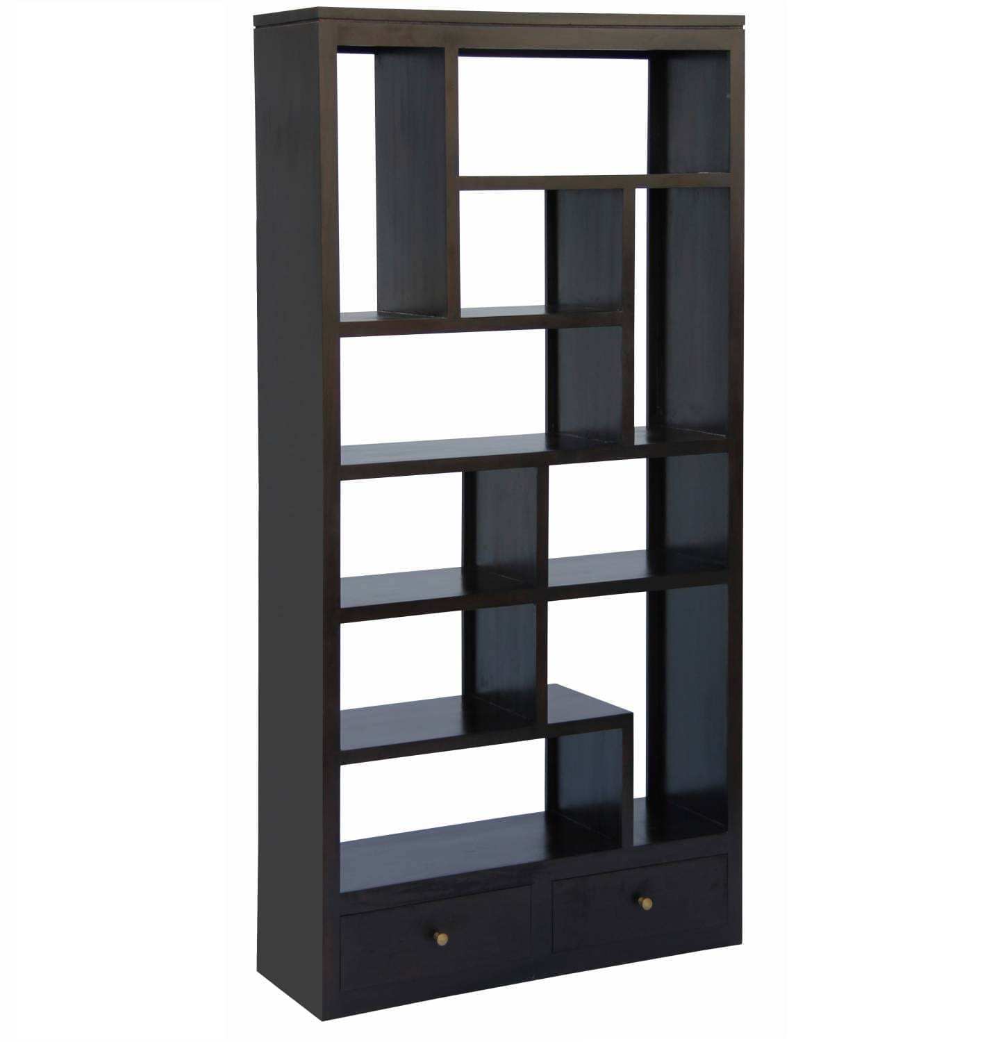 Amsterdam 10 Cube Bookcase With 2 Drawers - One Stop Pine