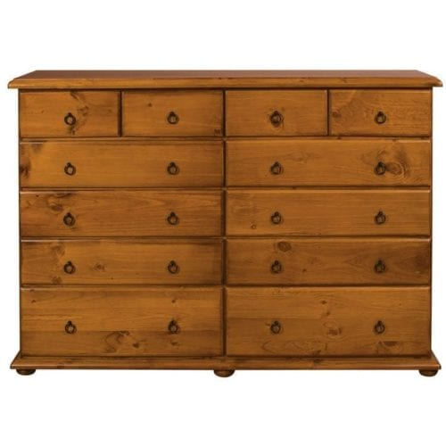 Chas 12 Drawer Tallboy_Chests Timber