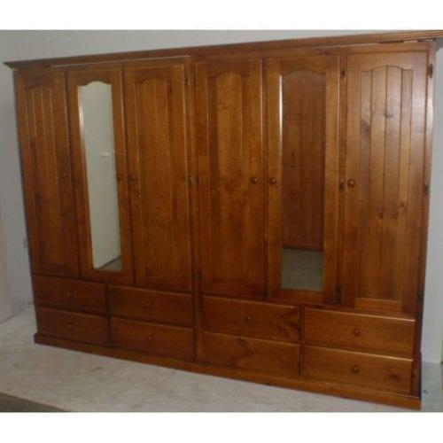 Colonial 6 Door 8 Drawer Wardrobe _Timber Wardrobes