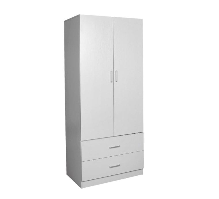 Robe 900 (2 Door 2 Drawer) – 450mm Deep_Melamine Wardrobe