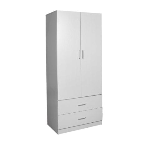 Robe 900 (2 Door 2 Drawer) – 450mm Deep_Melamine Wardrobe