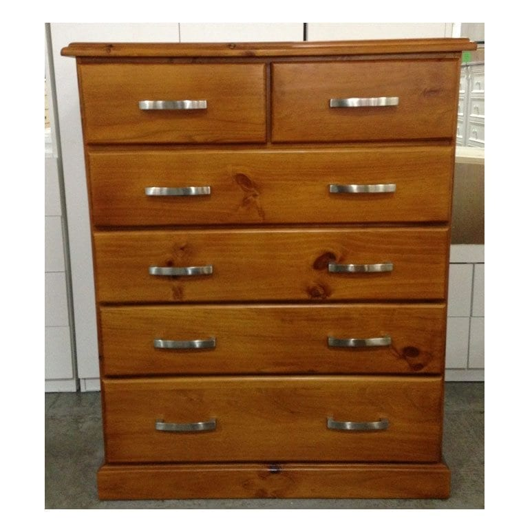 Katoomba 6 Drawer Chest Extra Deep One Stop Pine