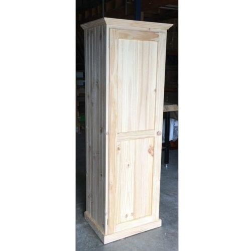 60cm Solid Timber All Hanging Wardrobe RAW 550D_Timber Wardrobes