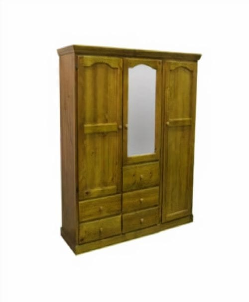 2-PIECE TIMBER WARDROBE WITH 3 DOORS & 5 DRAWERS_Timber Wardrobes