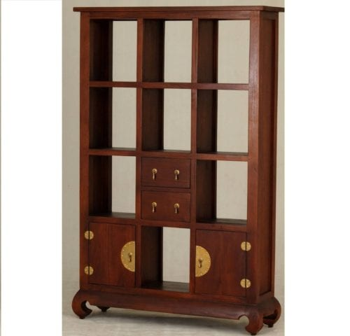 2 Door 2 Drawer Chinese 2 drawer Bookcase_Timber Bookcase