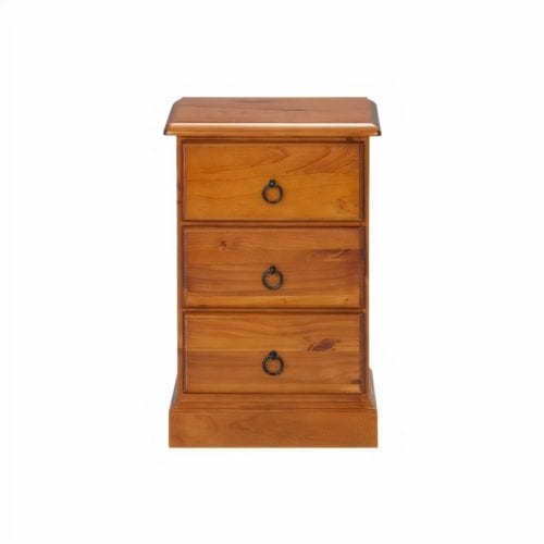 Chas 3 Drawer Bedside_Chest Timber