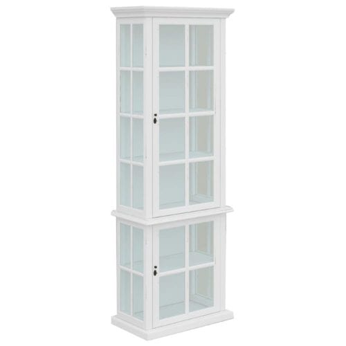 French 2 Door Glass Display_Timber Bookcase