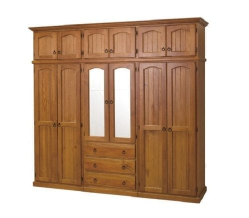 ARRONE 5 PIECE WARDROBE WITH 12 DOORS AND 3 DRAWERS_Timber Wardrobes
