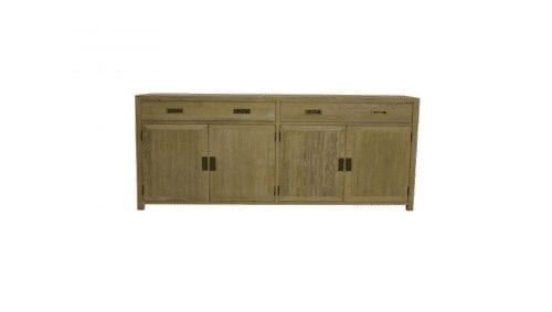 harlow timber sideboard with 4 drawers and 2 cupboards