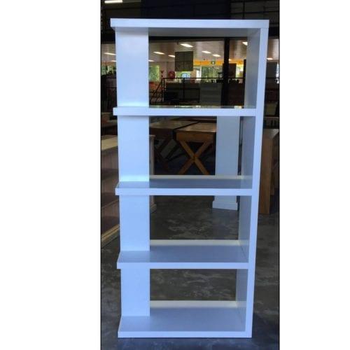 RTA – Bookcase fin-tale White_Melamine Bookcases