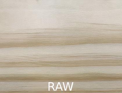 raw timber finish